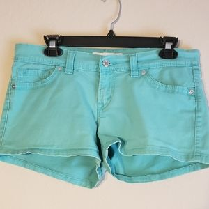 Levi's Leather Tag Teal w/ Silver hardware shorts